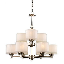 Bel Air Lighting Cahill 9-Light Transitional Chandelier in Brushed Nickel