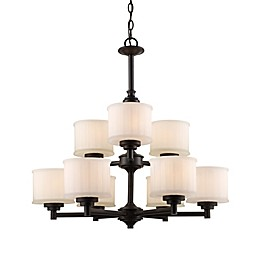 Bel Air Lighting Cahill 9-Light Transitional Chandelier in Rubbed Oil Bronze