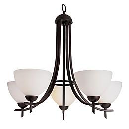Bel Air Lighting Vitalian 5-Light Contemporary Chandelier in Rubbed Oil Bronze