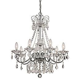 Bel Air Lighting Niagara 8-Light French Country Chandelier in Polished Chrome
