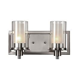 Bel Air Odyssey 2-Light Vanity Bar in Brushed Nickel