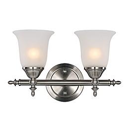 Bel Air Lighting Gassaway 2-Light Vanity Bar in Brushed Nickel