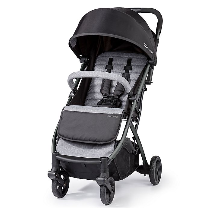 Alternate image 1 for Summer Infant® 3Dpac™ CS+™ Compact Fold Stroller in Grey