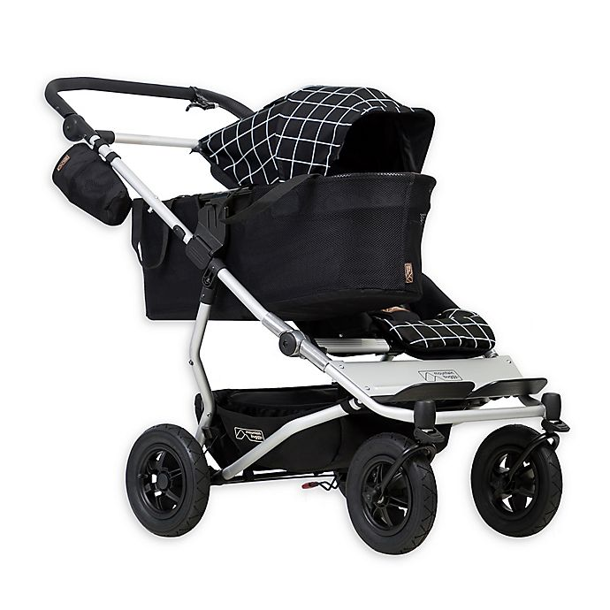 Alternate image 1 for Mountain Buggy® Duet Single Stroller in Grid