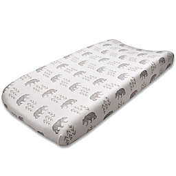Liz and Roo Cubby Bear Changing Pad Cover in Grey