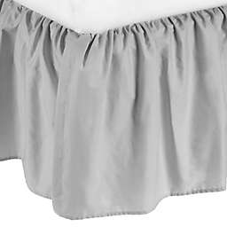 TL Care® Percale Cotton Mini-Crib Bed Skirt in Grey