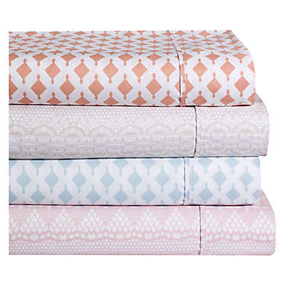 Ellen Tracy Lace Print Sheet Set