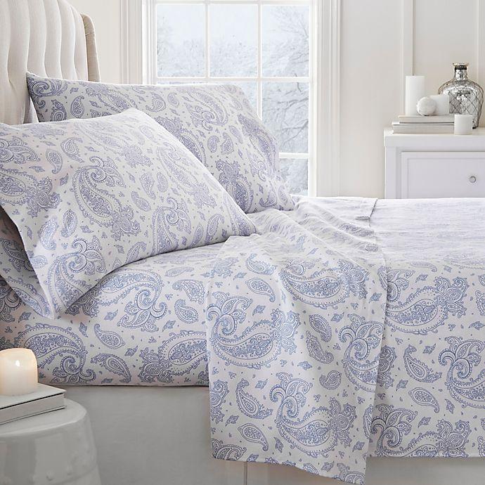 Paisley Print Flannel Sheet Set Bed Bath Beyond