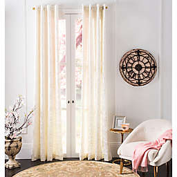 Safavieh Lerapetra Grommet Window Curtain Panel in Ivory