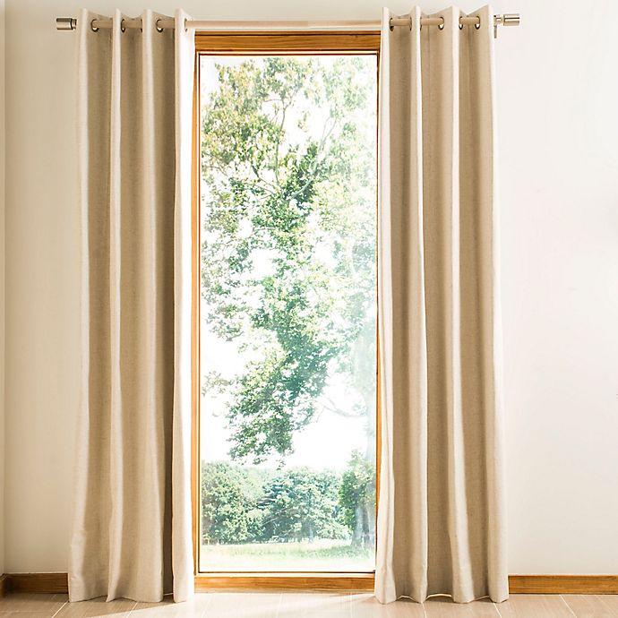 Alternate image 1 for Safavieh Nealonia Grommet Room Darkening Window Curtain Panel in Ivory