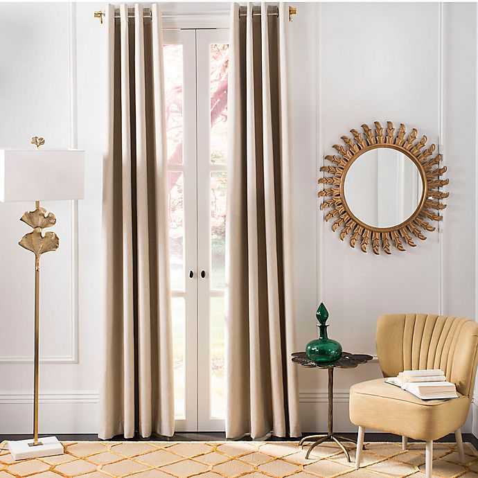 Alternate image 1 for Safavieh Patras Grommet Room Darkening Window Curtain Panel in Beige