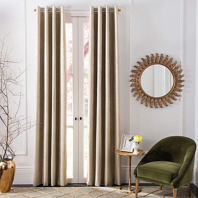 Alternate image 1 for Safavieh Veria Grommet Room Darkening Window Curtain Panel in Beige