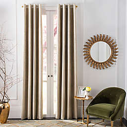 Safavieh Veria Grommet Room Darkening Window Curtain Panel in Beige