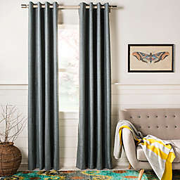 Safavieh Melissia Grommet Room Darkening Window Curtain Panel in Grey