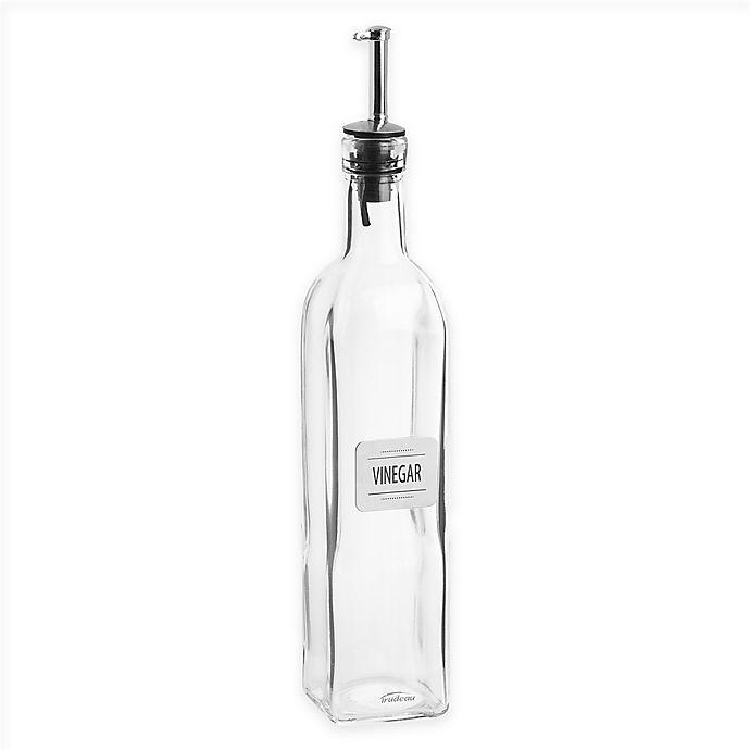 Alternate image 1 for Trudeau Glass/Metal Vinegar Bottle
