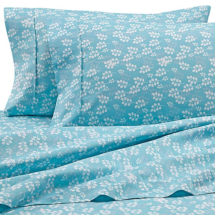 Alternate image 1 for Home Collection Wheat California King Sheet Set in Pale Blue