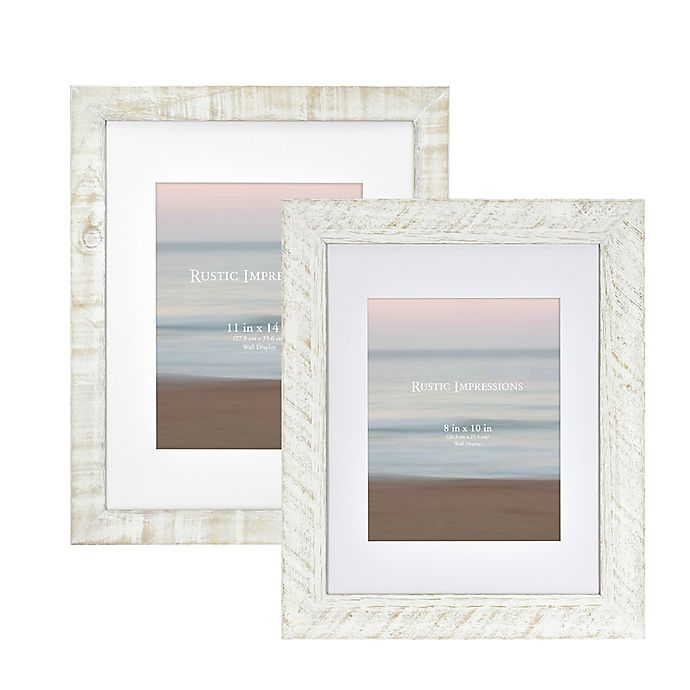Alternate image 1 for Bee & Willow™ Home Matted Textured Wood Frame in White