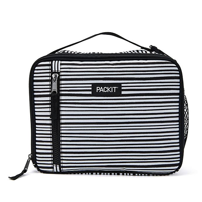 Alternate image 1 for PACKiT® Freezable Classic Lunch Box in Black/White