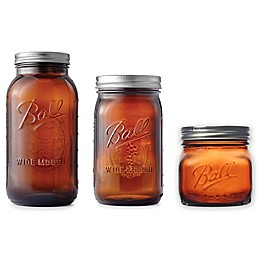 Ball® Elite Wide Mouth Glass Mason Jars in Amber