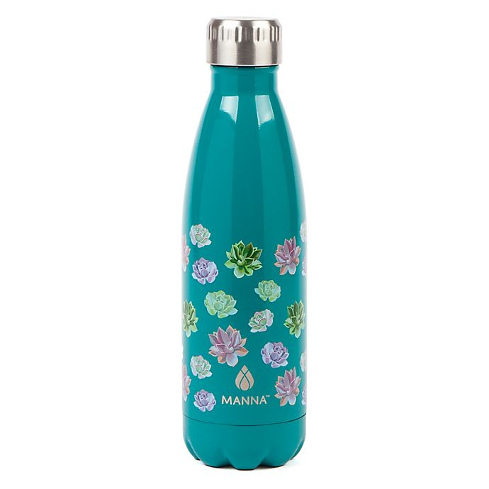 Alternate image 1 for Manna™ Vogue® 17 oz. Stainless Steel Double Wall Water Bottle in Succlents