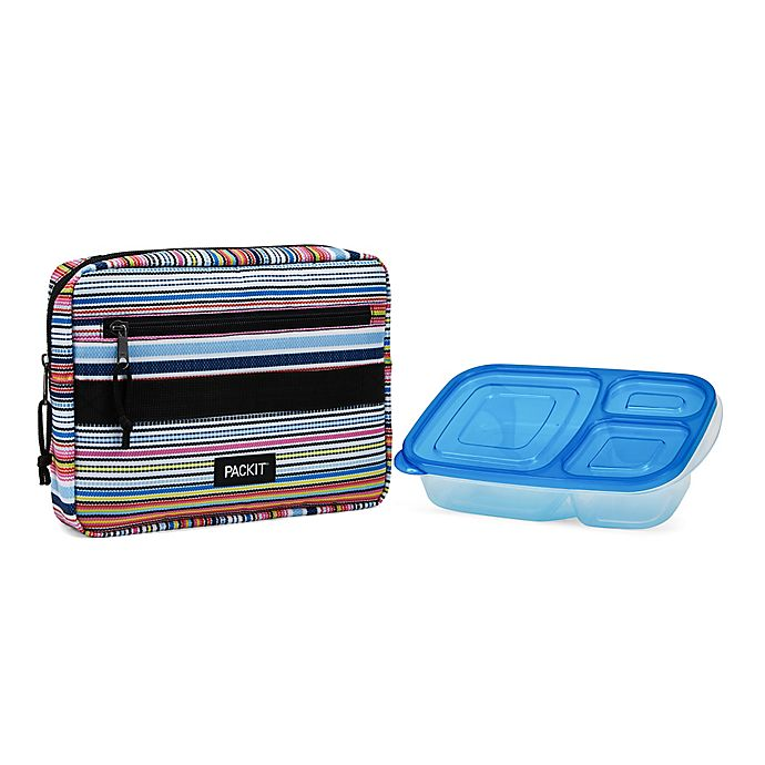 Alternate image 1 for PACKiT® Freezable Blanket Stripe Bento Box