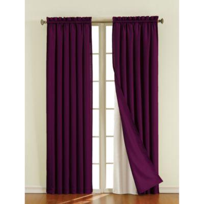 Sound Asleep Blackout Window Curtain Liner Pair Bed