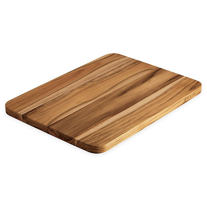 Anolon Pantryware 15 Inch X 12 8 Inch Teakwood Cutting Board Bed Bath Beyond