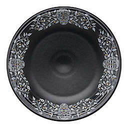 Fiesta® Sugar Skull Chop Plate in Black with Floral Vine Border