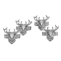 Arthur Court Elk Head Napkin Rings (Set of 4)