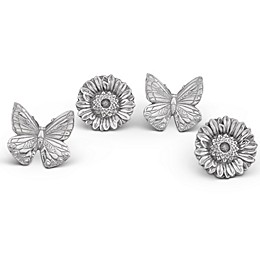 Arthur Court Butterflies and Flowers Napkin Rings (Set of 4)
