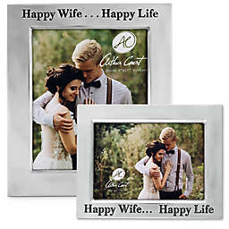 """Arthur Court """"Happy Wife... Happy Life"""" Picture Frame"""
