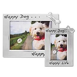 "Arthur Court ""Happy Dog... Happy Life"" Bone Picture Frame"