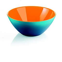 Fratelli Guzzini My Fusion Serving Bowl in Blue/White/Orange