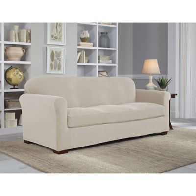Perfect Fit 174 Neverwet Luxury 2 Piece Sofa Slipcover Bed