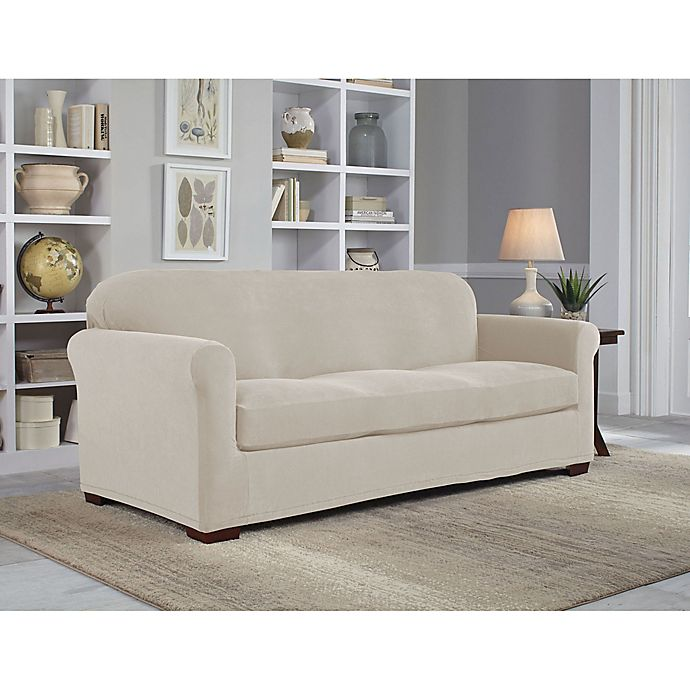Pleasant Perfect Fit Neverwet Luxury 2 Piece Sofa Slipcover Bed Dailytribune Chair Design For Home Dailytribuneorg
