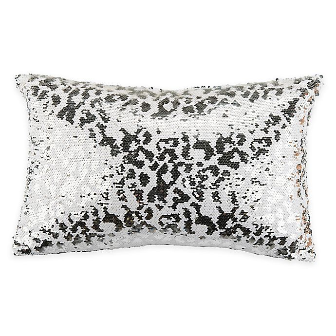 Safavieh Sorel Sequin Throw Pillow In White Silver Bed Bath And Beyond Canada