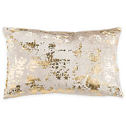 Safavieh Edmee 12-Inch x 20-Inch Rectangle Throw Pillow in Beige/Gold