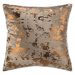 Safavieh Edmee 20-Inch Square Throw Pillow in Brown/Copper