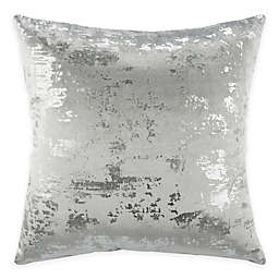 Safavieh Edmee 20-Inch Square Throw Pillow in Light Grey/Silver