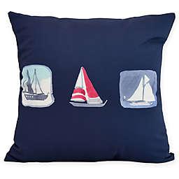 E by Design Boat Trio Square Pillow