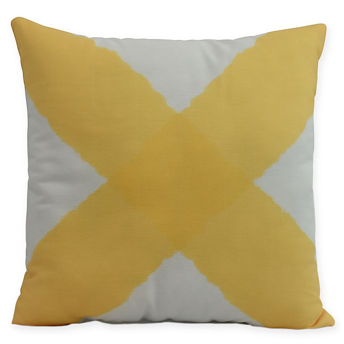 Alternate image 1 for E by Design X Marks the Spot Square Throw Pillow in Yellow