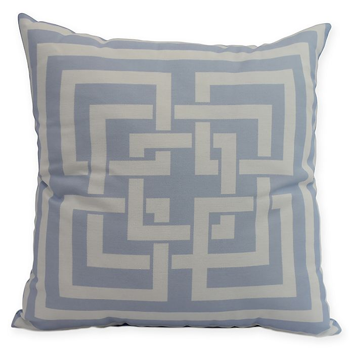 Alternate image 1 for E by Design Greek New Key Square Throw Pillow in Blue