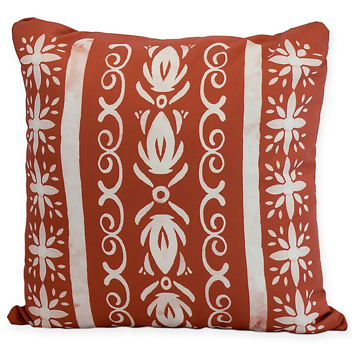 Alternate image 1 for E by Design Abstract Cuban Tile Square Throw Pillow in Orange