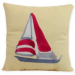E by Design Sail Away Square Throw Pillow