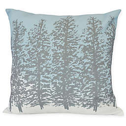 E by Design Hidden Forest Square Throw Pillow in Grey