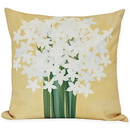 E by Design Paperwhites Square Throw Pillow