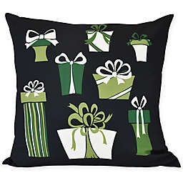 E by Design Present Time Square Throw Pillow