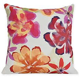 Ani Floral Square Throw Pillow in Red