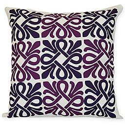 Tiki Square Throw Pillow in Purple