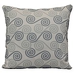Coastal Rip Curl Square Throw Pillow in Grey
